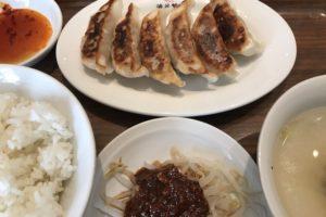 渋谷餃子の餃子定食