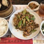 老辺餃子舘の鶏肉とカシューナッツ炒め