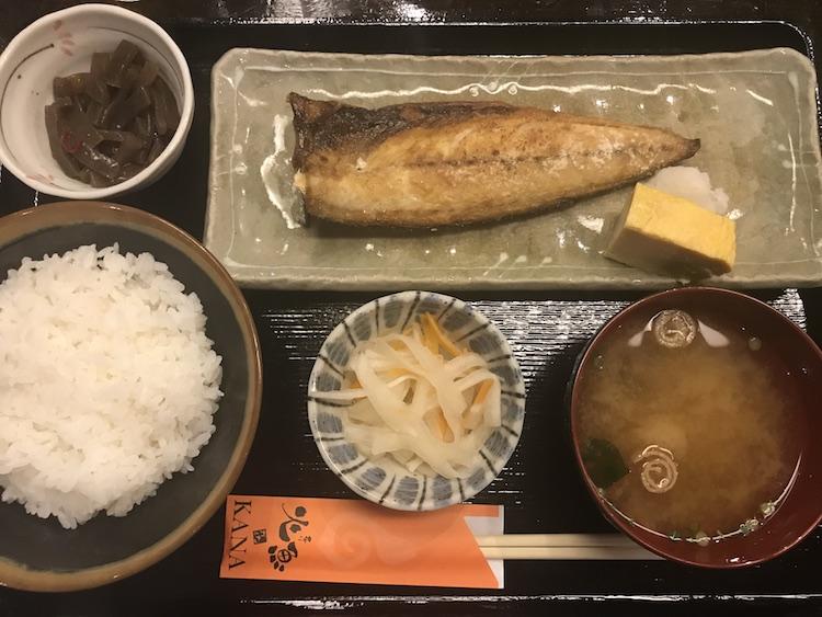 火魚の塩鯖定食