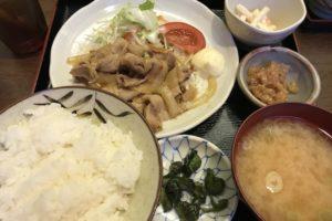 三平酒寮の生姜焼き