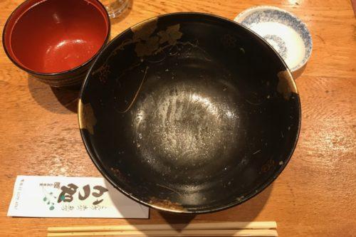 三是食堂牛レアステーキ丼完食