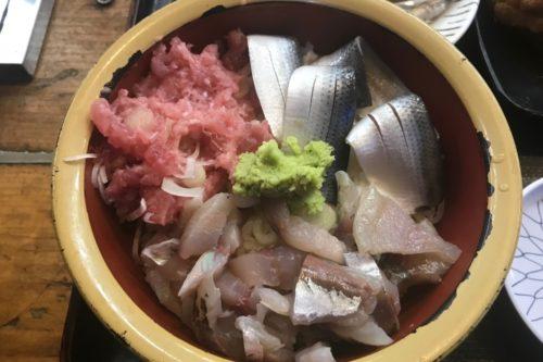 タカマル鮮魚店三色丼