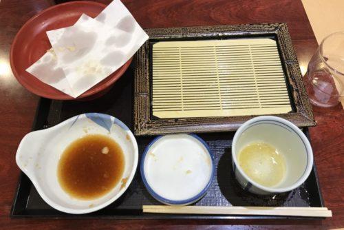 天ぷら蕎麦完食